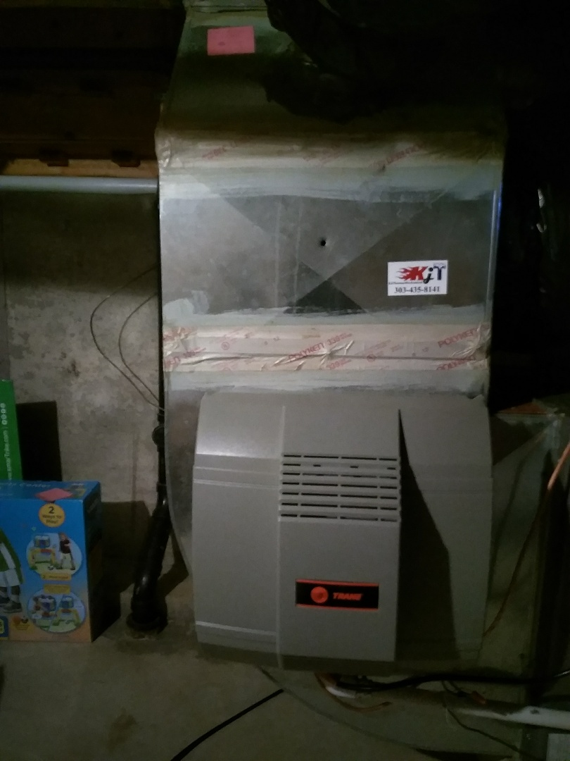 Longmont, CO - Performed humidifier install on Trane unit