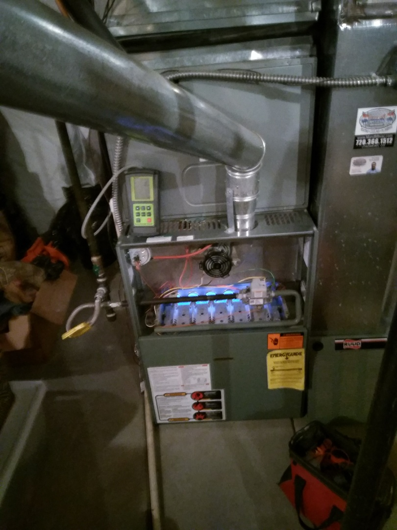 Longmont, CO - Performed furnace tuneup on Ruud unit