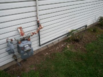 Belleville, MI - gas line to heater