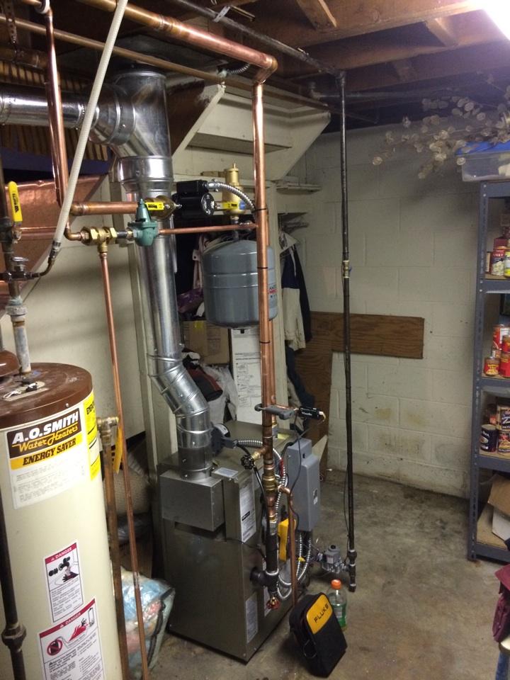 Whitmore Lake, MI - Boiler change out!