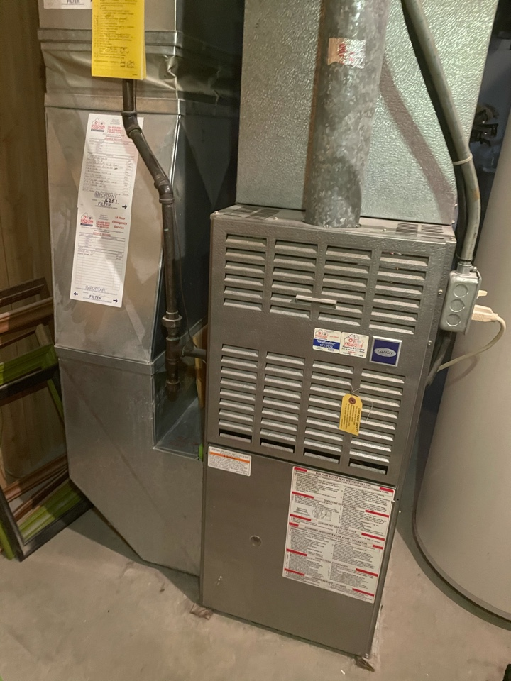 Superior Charter Township, MI - CARRIER FURNACE MAINTENANCE AND PERFORMANCE CHECK.