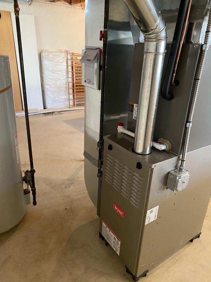Installing Bryant 80% efficient furnace