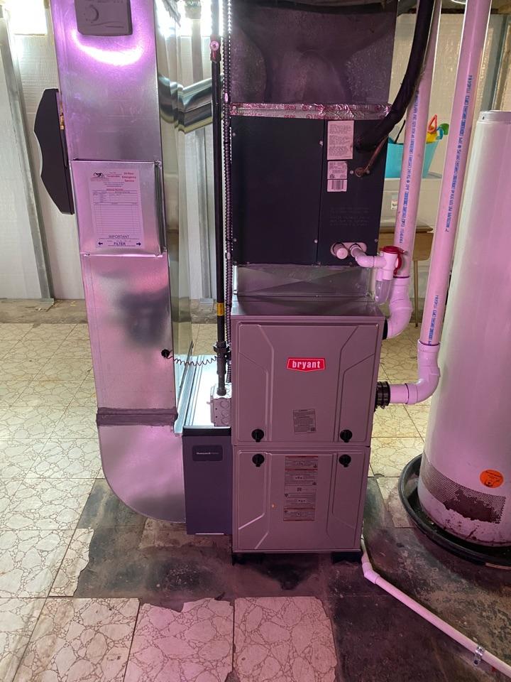 Ypsilanti, MI - Installing Bryant furnace mace