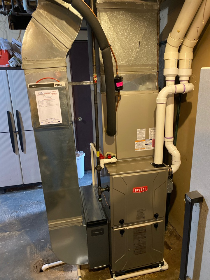 Superior Charter Township, MI - Installed new Bryant gas furnace