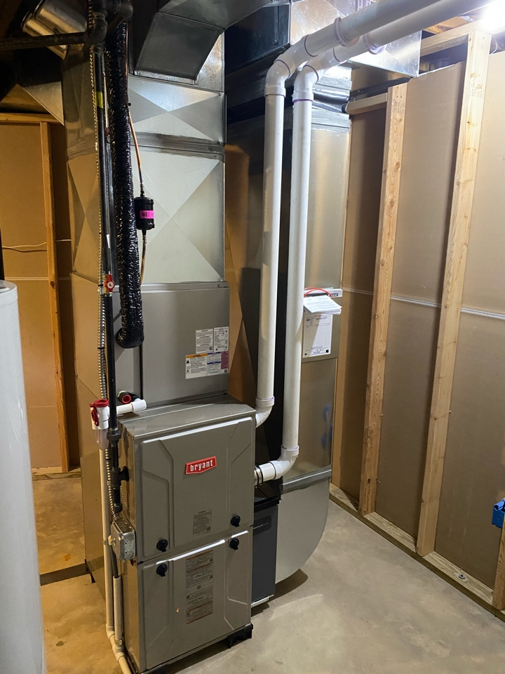 Manchester, MI - Installing Bryant furnace and ac system