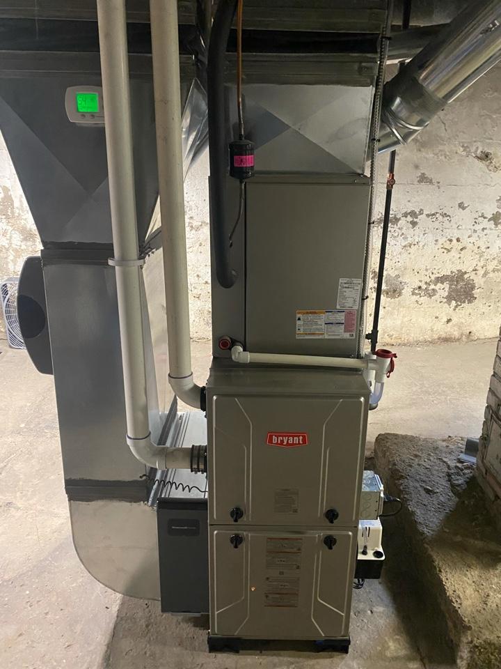 Ypsilanti, MI - Installing Bryant furnace