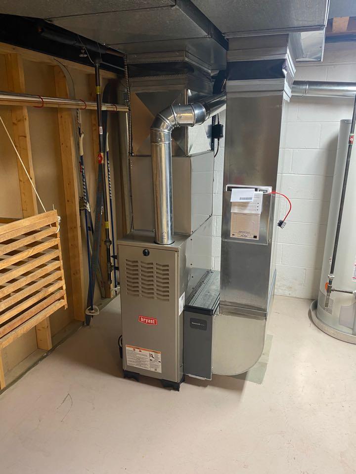 Ann Arbor, MI - Installing Bryant furnace ac