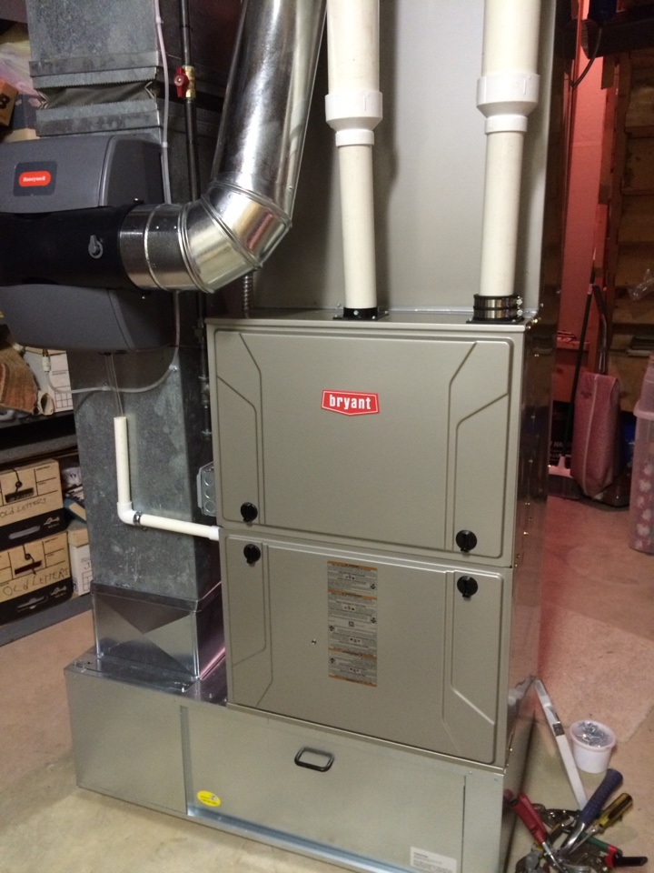 Belleville, MI - Install Bryant Evolution system and Honeywell humidifier