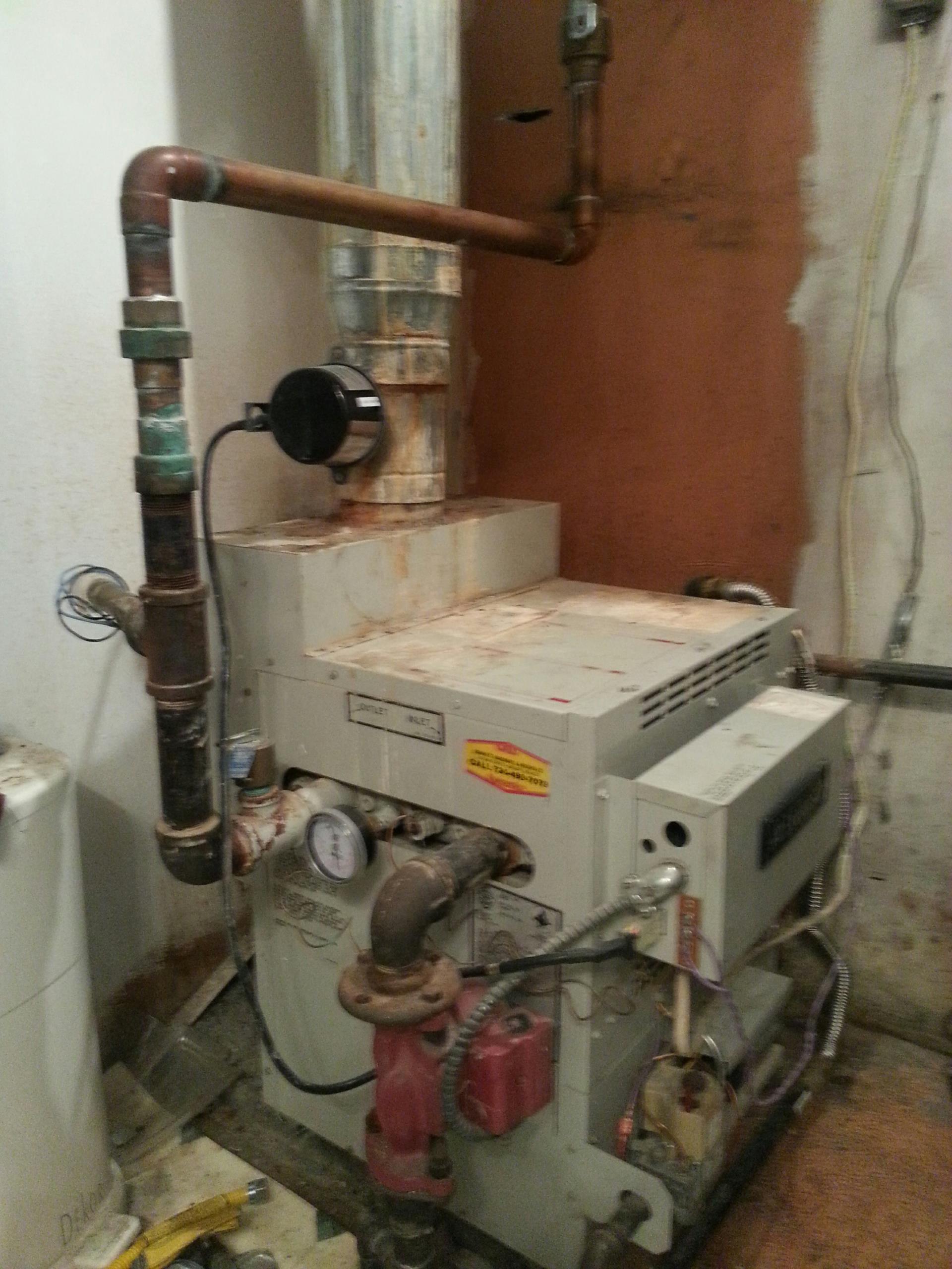 Pinckney, MI - Repairing boiler-bad damper motor