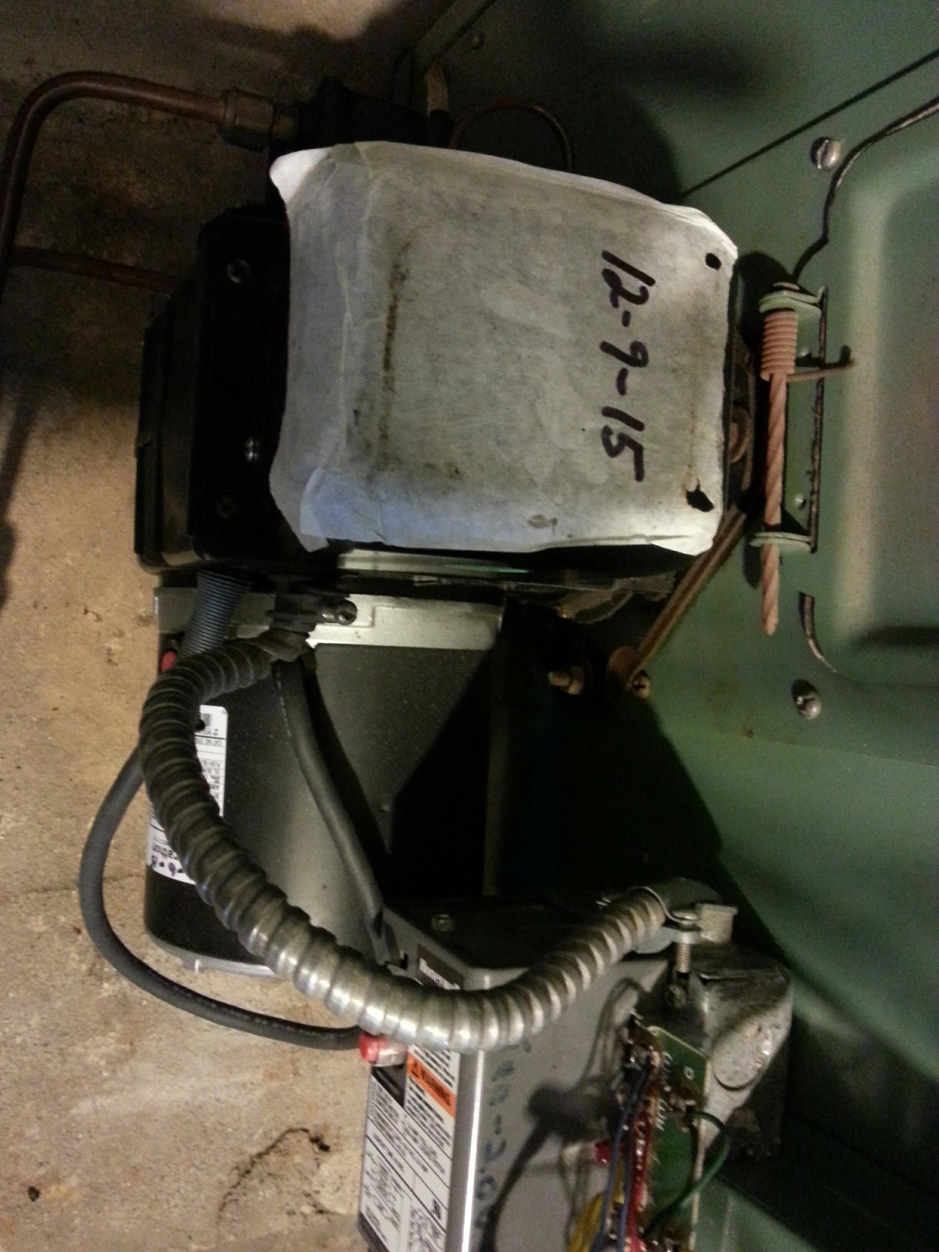 Milan, MI - Oil furnace tune up. Replace 1000987 volt transformer.