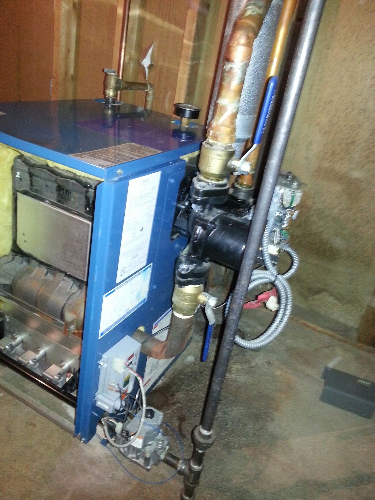 Whitmore Lake, MI - Cleaning gas boiler