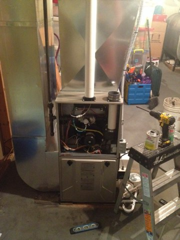 Gregory, MI - Replacing oil furnace with 95% Bryant furnace.