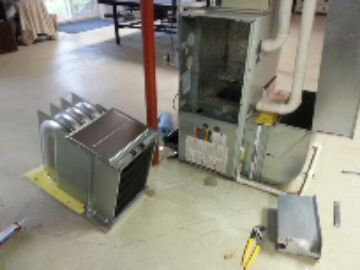Stockbridge, MI - replacing heat exchanger; new one ready for installation