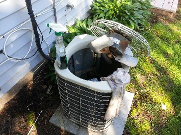 Brighton, MI - cleaning a/c system