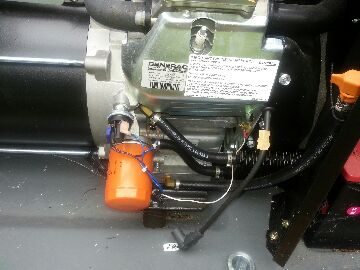 Grass Lake Charter Township, MI - tune up on generator-sounded rough, had spark plug wire off!