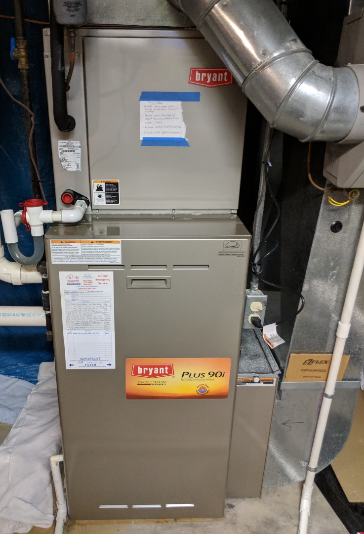 Saline, MI - Maintenance on Bryant Gas Furnace. Also, replacement of Bryant Ultraviolet Bulb, Media Filter, and Humidifier Pad.