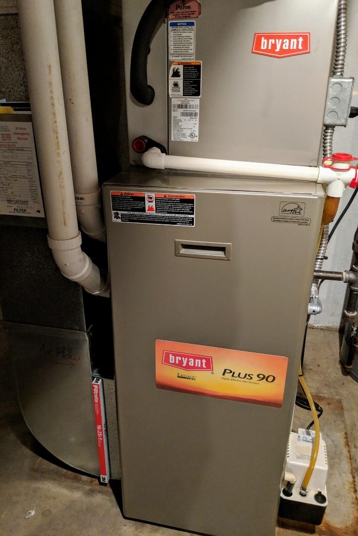 Ypsilanti, MI - Maintenance on Bryant Gas Furnace