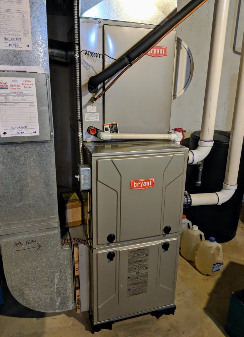 Dexter, MI - Maintenance performed on Bryant gas furnace