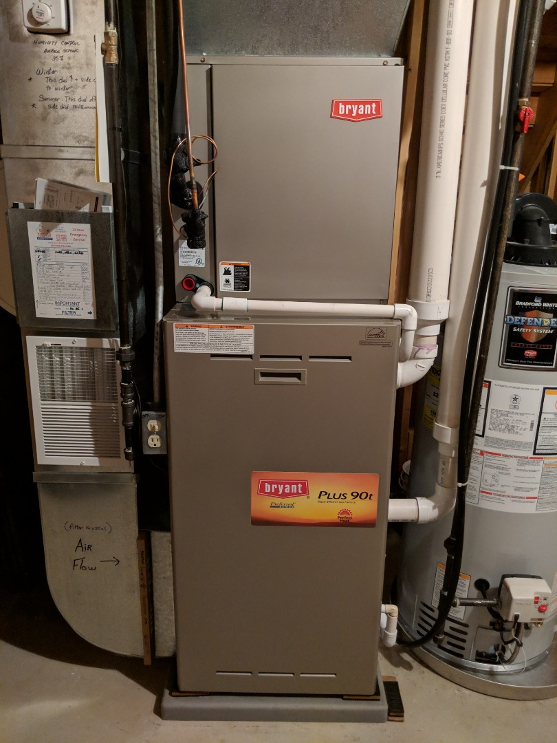 Chelsea, MI - Maintenance on Bryant Gas Furnace and Honeywell humidifier pad replaced