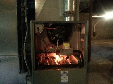 Britton, MI - cleaning gas furnace