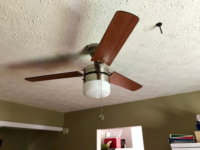 Pasadena, MD - Install a ceiling fan in the dining room.