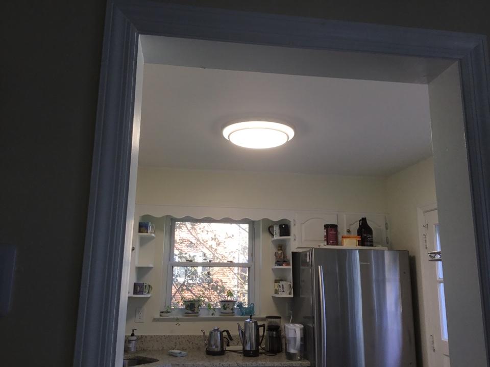 University Park, MD - Installing kitchen light
