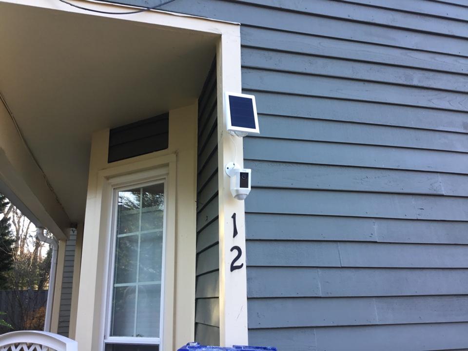 Annapolis, MD - Installing ring solar panel camera