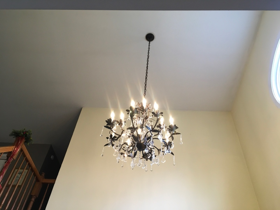 Local electrician to install chandelier