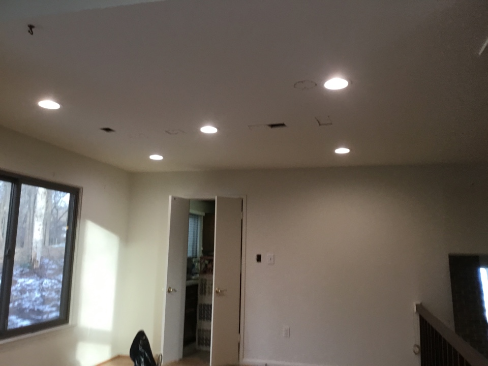 Columbia, MD - Installing recess lights in dinning room