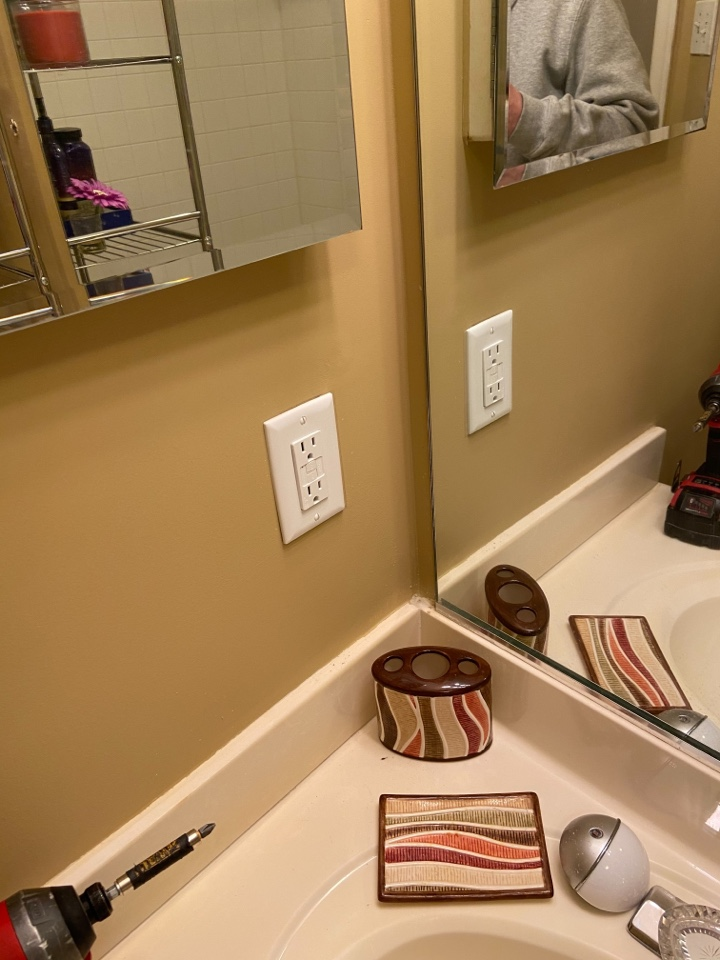 Columbia, MD - Installed gfci receptacles in bathrooms