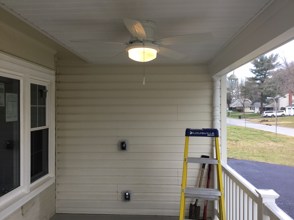 Bowie, MD - Installing outdoor fan and switch and receptacle