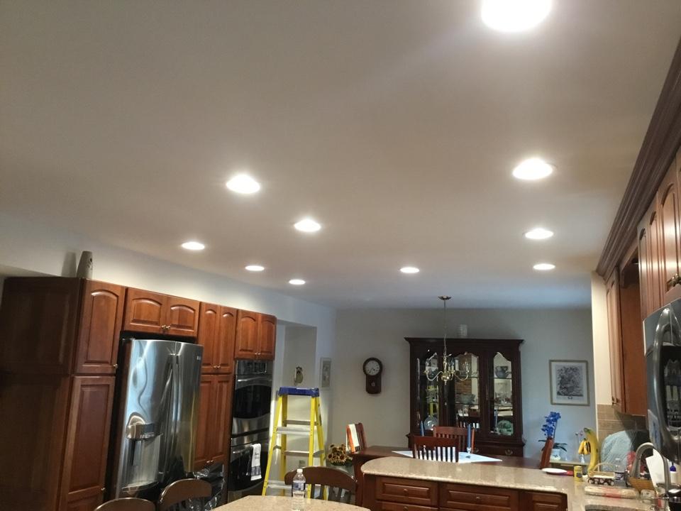 Arnold, MD - Installing recess lights