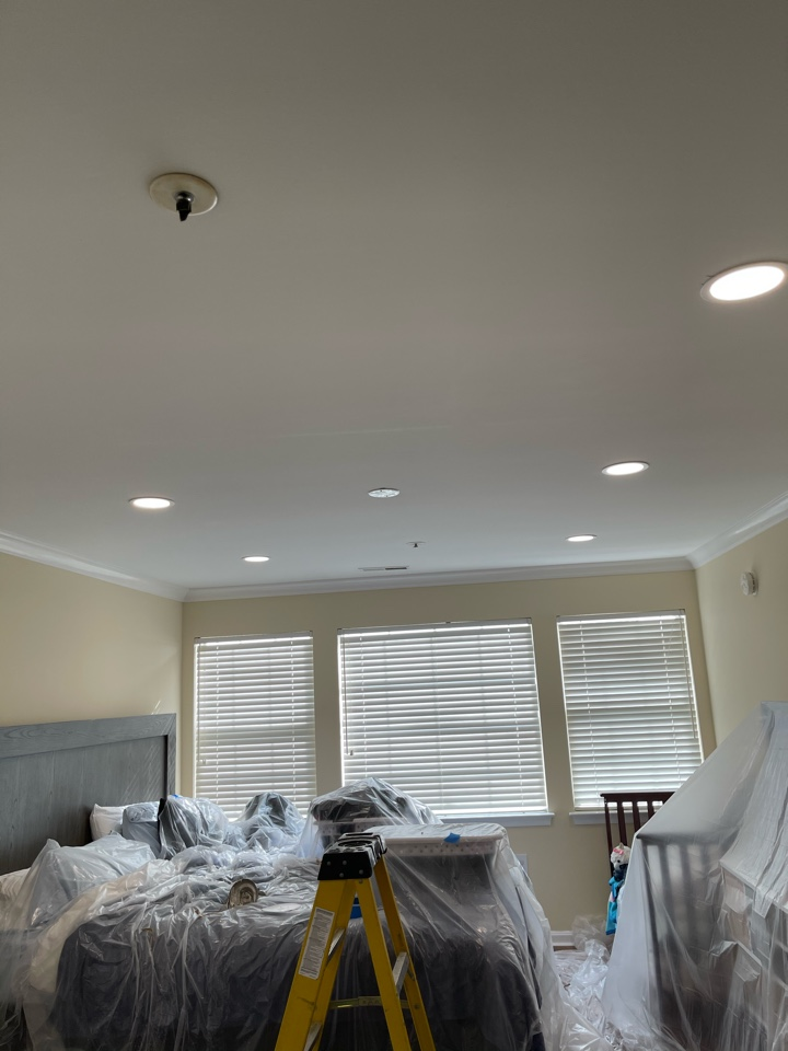 Ellicott City, MD - Installed recessed lighting throughout condo.