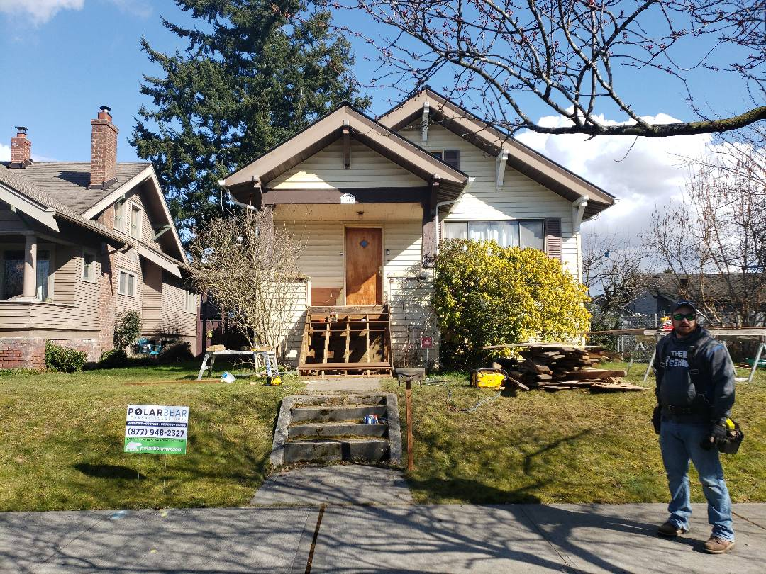 Everett, WA - Nice little home installing a front porch and a deck in back