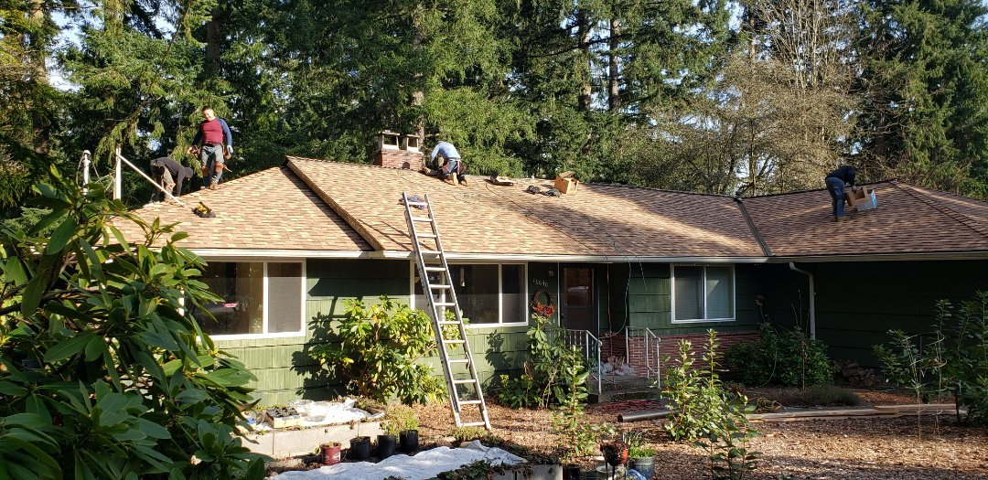 Lake Forest Park, WA - Just finishing up another roof project in Lake Forest Park.