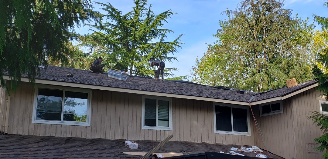Redmond, WA - Just finishing a new Certainteed roofing project.
