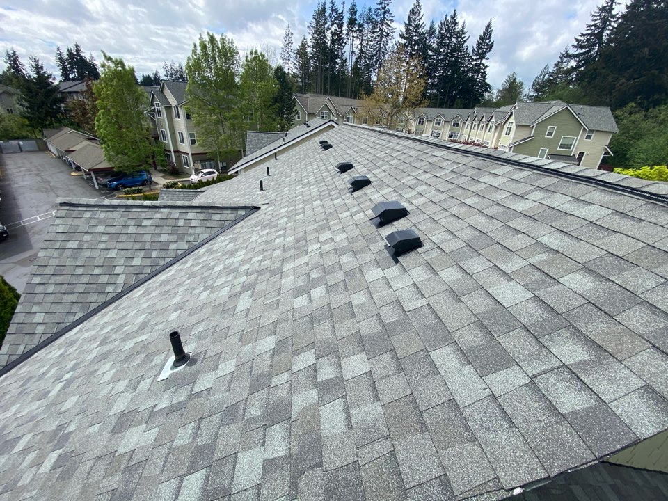 Everett, WA - Roof replacements continue at this condo complex.