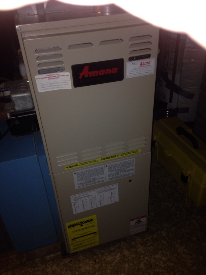 Kalamazoo Township, MI - Furnace tune up, performed annual service on Amana furnace