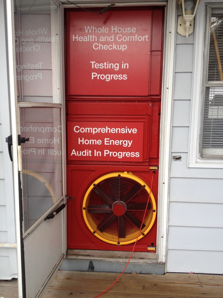 Plainwell, MI - I'm doing a home energy audit        And home performance test