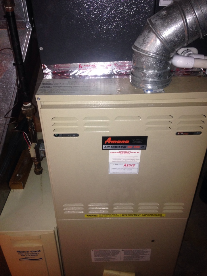 Oshtemo, MI - Furnace repair, replace control board on Amana gas furnace