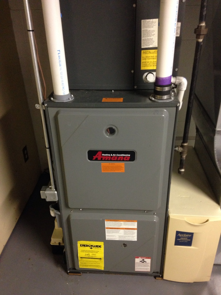Three Rivers, MI - Furnace tune up, perform annual maintenance on Amana gas furnace