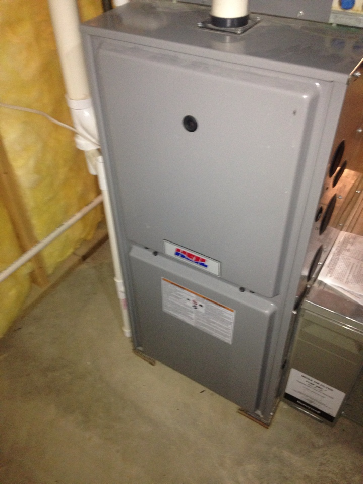 Oshtemo, MI - Furnace tune up, perform annual service on Heil gas furnace Lochinvar gas water heater and Aprilaire whole house humidifier