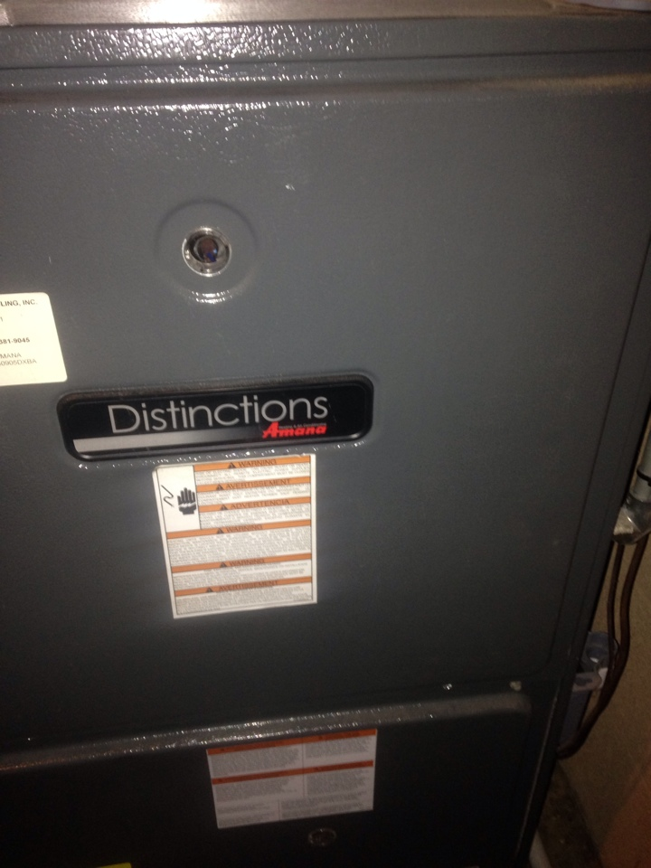 Plainwell, MI - Furnace repair, replace draft inducer motor on Amana furnace