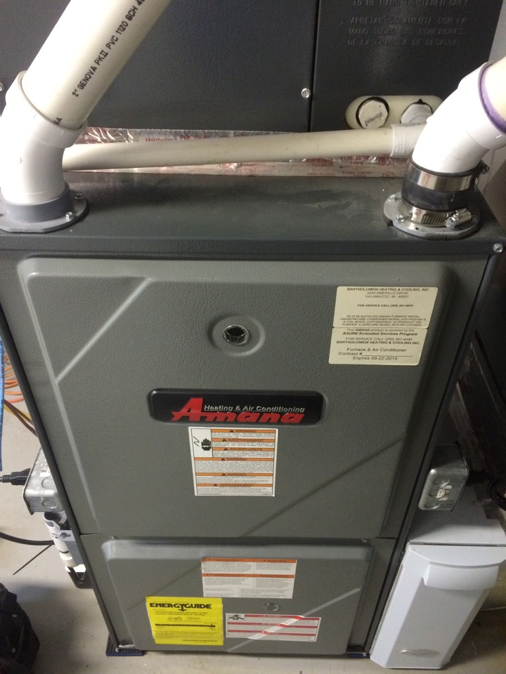 Galesburg, MI - Amana annual furnace maintenance
