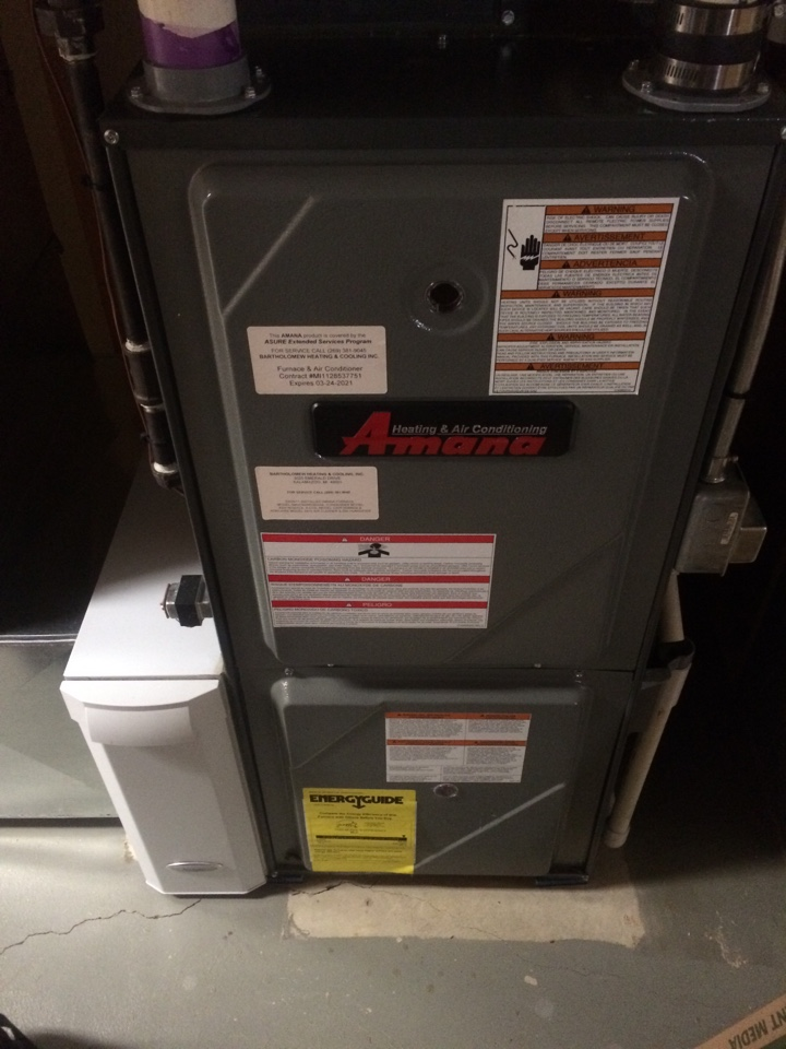 Plainwell, MI - Amana annual furnace maintenance
