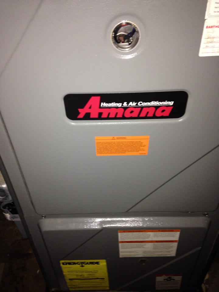 East Leroy, MI - Furnace repair, replace heat exchanger on Amana furnace
