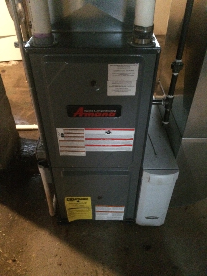 Texas charter Township, MI - Amana annual furnace maintenance