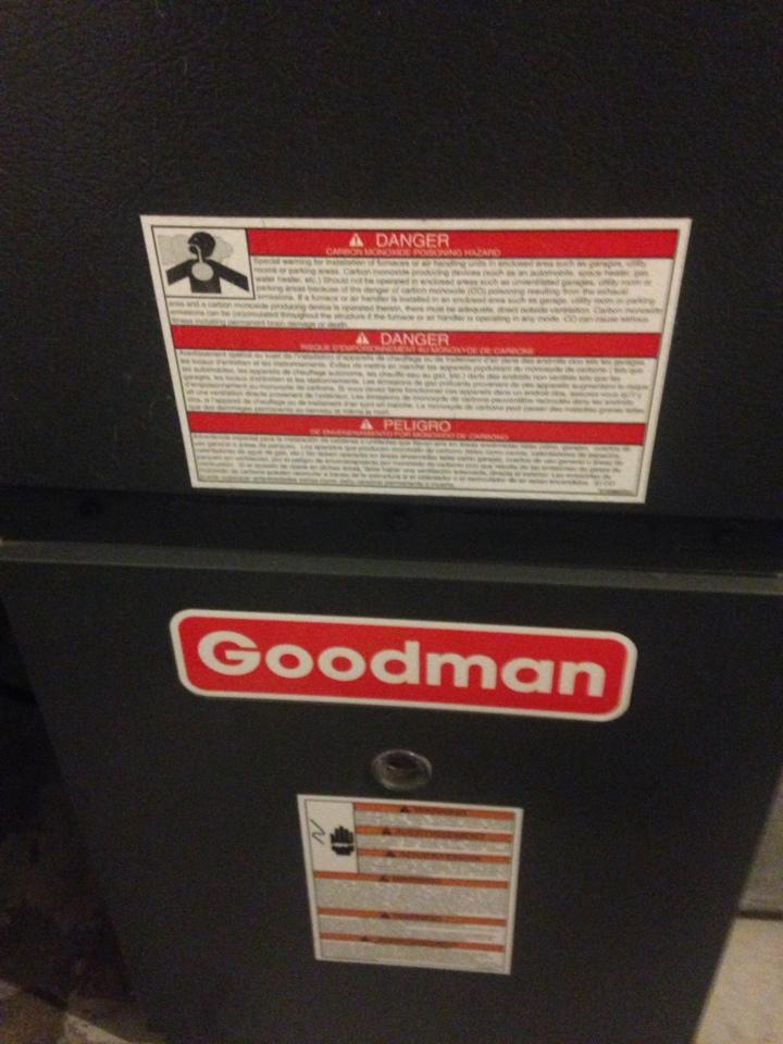 Schoolcraft, MI - Furnace tune up on Goodman furnace