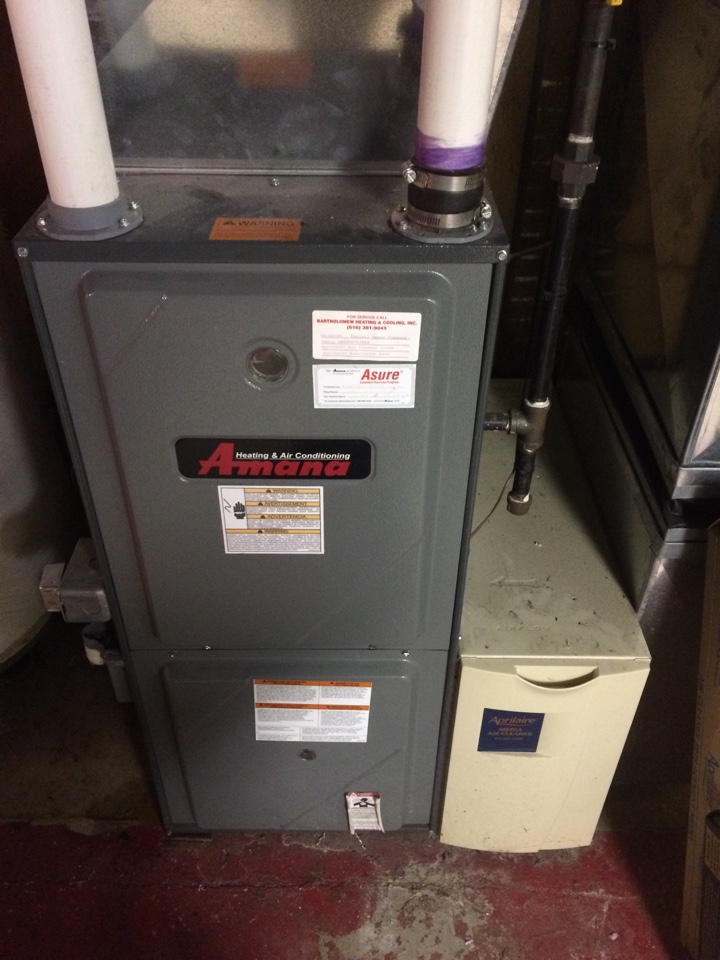 Mattawan, MI - Amana annual furnace maintenance