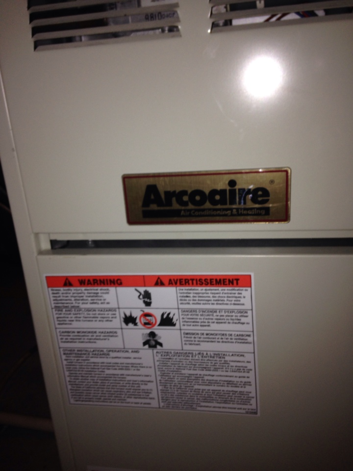 Allegan, MI - Furnace tune up, perform annual maintenance in Arcoaire furnace and installed Honeywell Wifi thermostat